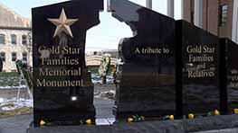 Gold Star Families Memorial Monument Revealed At Courthouse