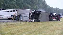 Semi Rollover Slows Down Traffic On US 30 Tuesday